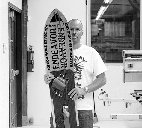Scott's custom snowboard