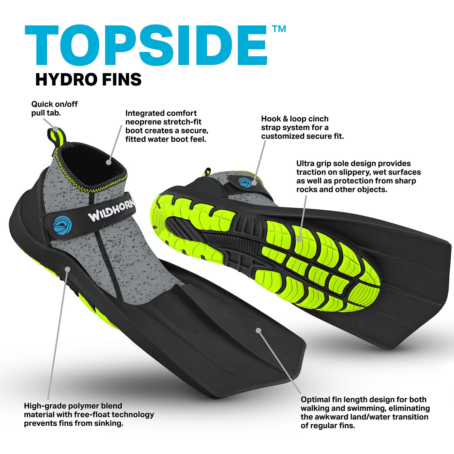 Topside Hydro Fins - Wildhorn Outfitters e8fb6329c3
