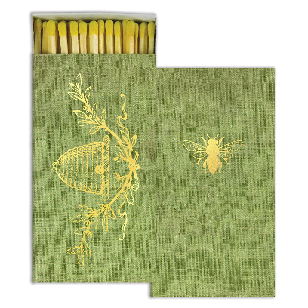 Gold Foil Bee Decorative Matches