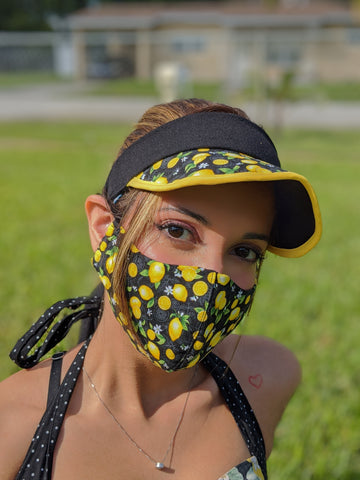 COVID FASHION FACE MASK & VISOR SET