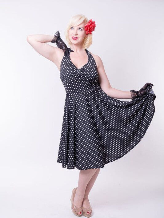 Retro Halter Dress