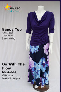 Nancy Cowl Neck Top