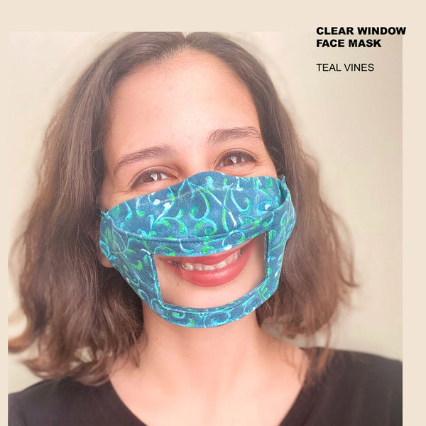 Clear Window Face Mask