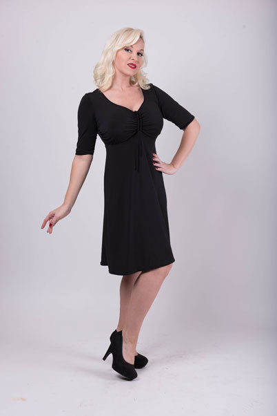 Style #98 - Elbow Length Sleeve Dress - DD Cup and Up