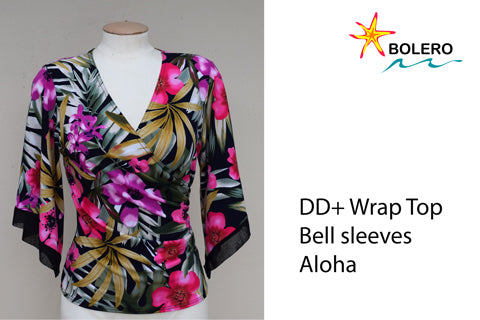 Wrap Top with Bell Sleeves