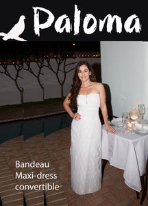 Bandeau White Lace Maxi: (Strapless)