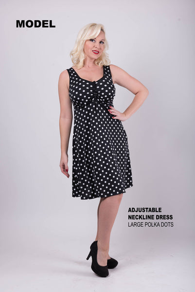 Adjustable Neckline Dress - DD+ Model
