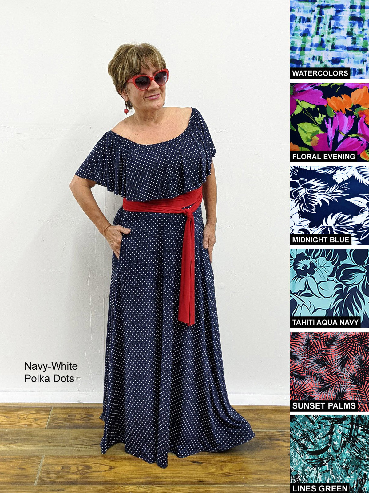 Ruffle Maxi Dress With Shelf Bra