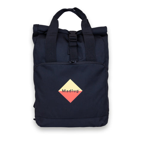 Black Roll-Top Backpack