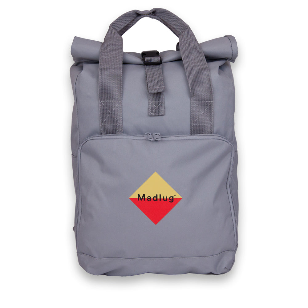 Light Grey Roll-Top Backpack
