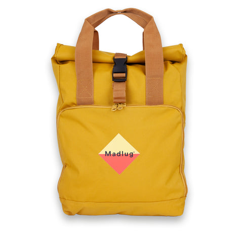 Mustard Roll-Top Backpack