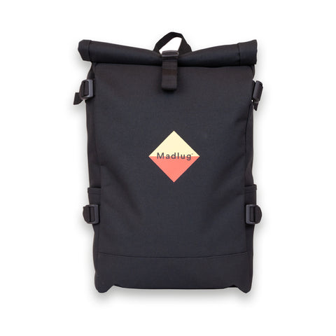 Black Roll-Top Student Backpack