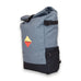Grey Roll-Top Student Backpack