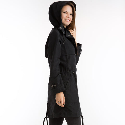 The long anorak black
