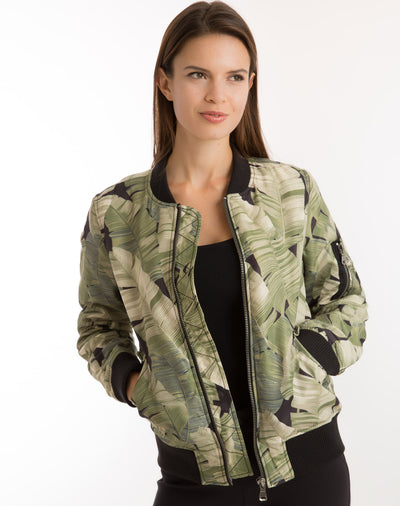 Bomber Jacket - Banana Leaf