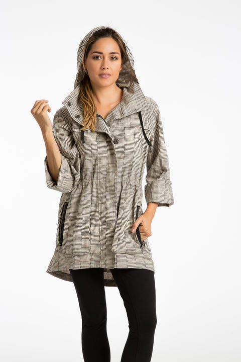 The Printed Linen Anorak