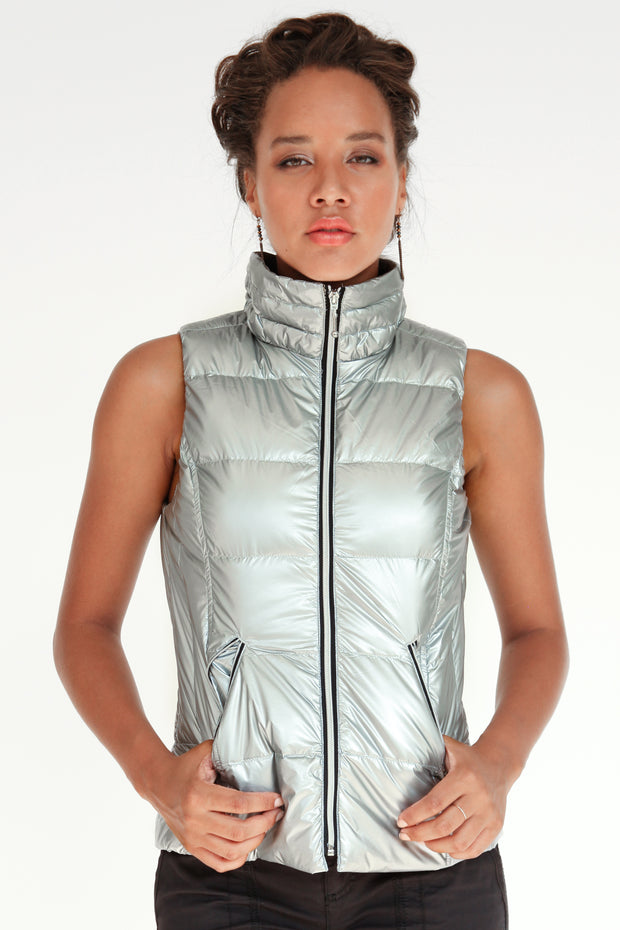 Short Nylon Down Vest