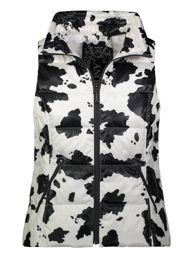 Short Printed Down Vest