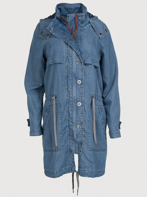 The long anorak Medium Wash