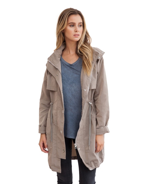 The long anorak brit khaki