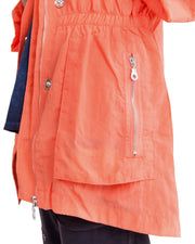 anorak jacket coral