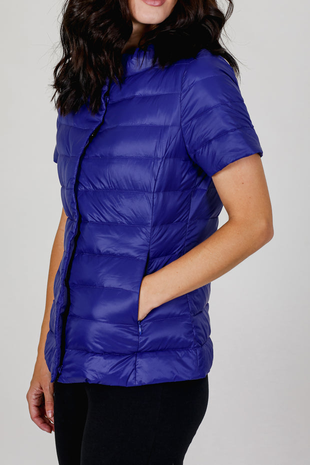 Short Sleeve Puffer Jacket