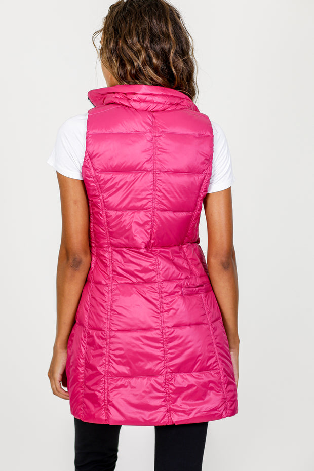 Long Nylon Down Vest