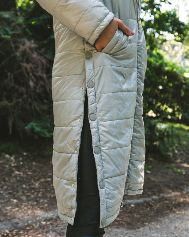 Quilted Nylon Duster