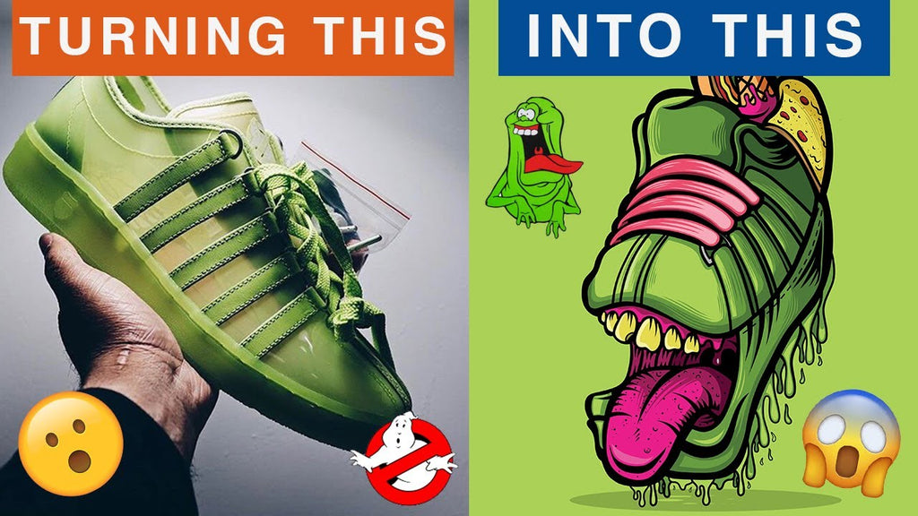 The Green Ghost Sneaker Art Print Design Process Video