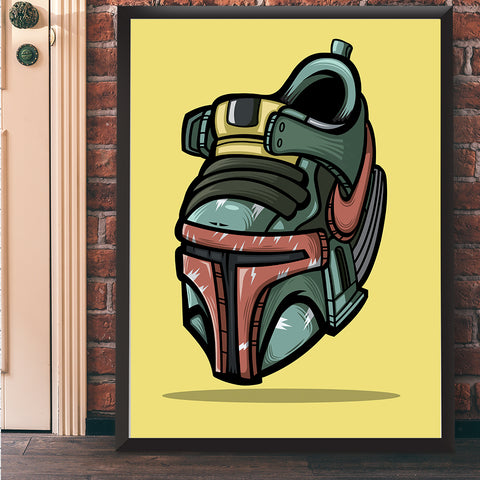 The Bounty Hunter Art Print 17 x 22 - Anderson Bluu Sneaker Art