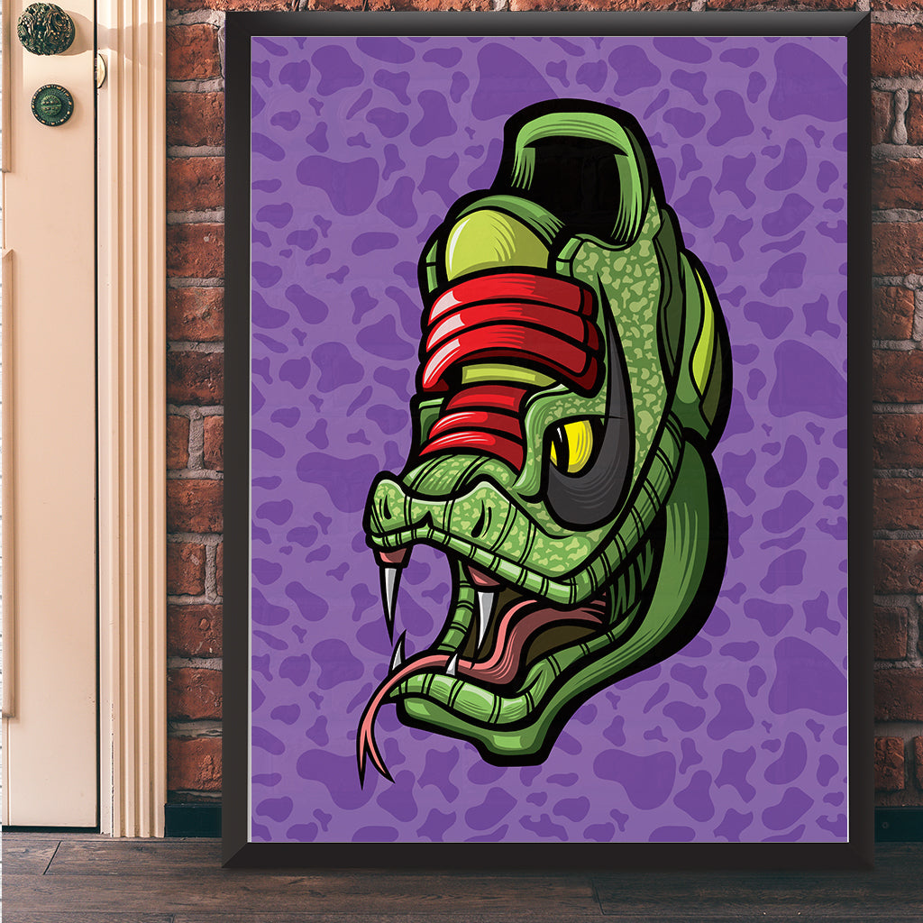 Black Mamba Grinch Giclee Art Print 17 x 22 - Bluu Dreams