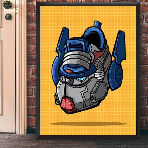 Autobot Commander Art Print 17 x 22 - Bluu Dreams