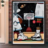 Bugs And Mike Giclee Art Print 17 x 22 - Anderson Bluu Sneaker Art