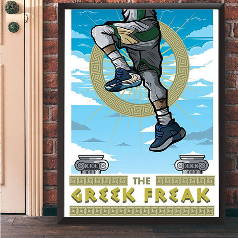 Greek Freak Giclee Art Print 17 x 22 - Anderson Bluu Sneaker Art