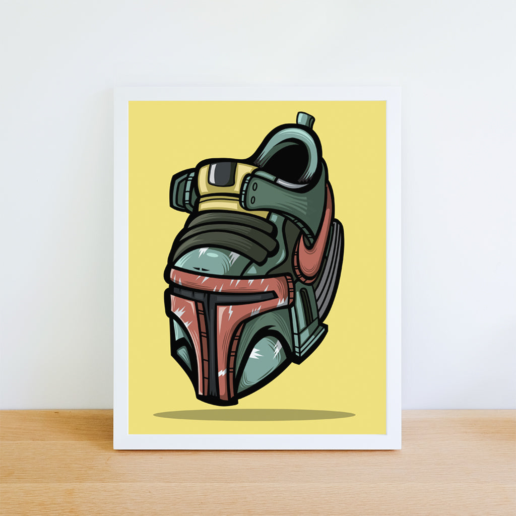 The Bounty Hunter Art Print 8.5 x 11 - Anderson Bluu Sneaker Art