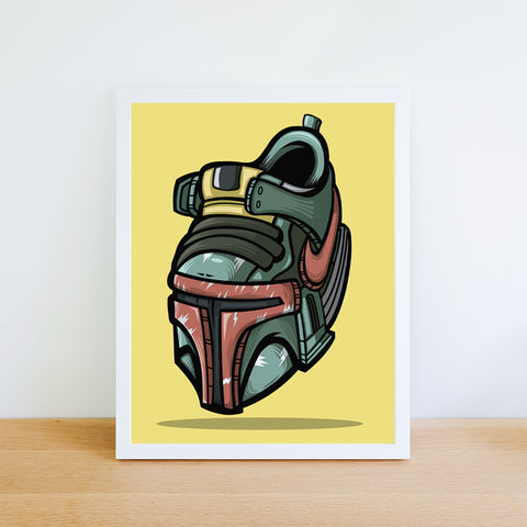 The Bounty Hunter Art Print 8.5 x 11 - Bluu Dreams