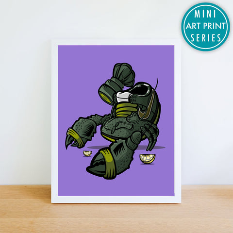 Green Lobster Giclee Art Print 8.5 x 11