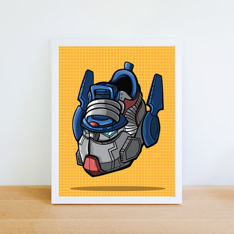 Autobot Commander Art Print 8.5 x 11 - Bluu Dreams