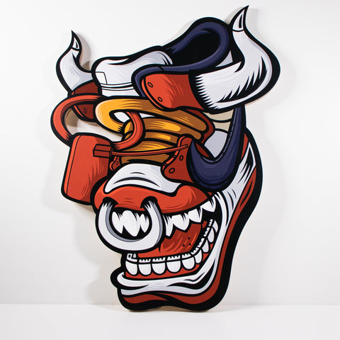 Off Bluu Bull 24 x 20 in Wood Die Cut Print 1 of 1 - Anderson Bluu Sneaker Art