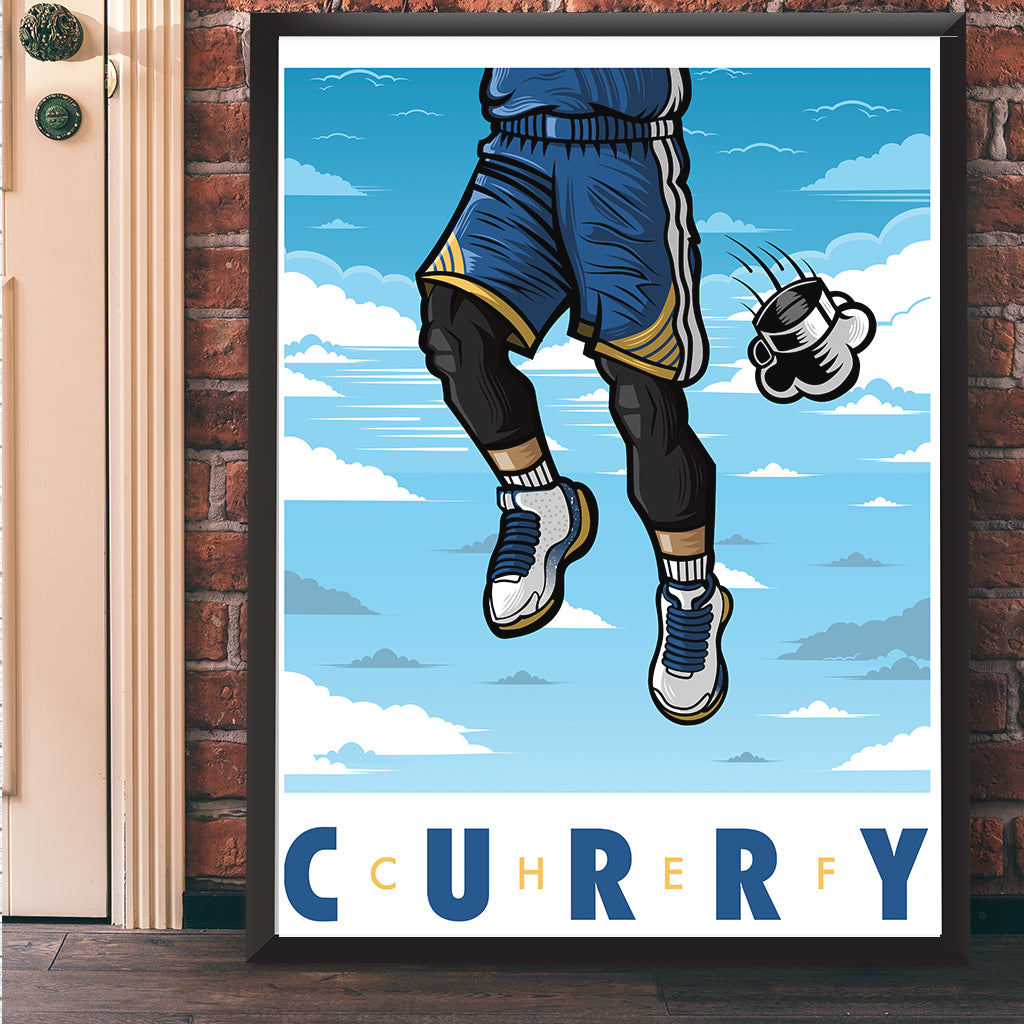 Chef Curry Giclee Art Print 17 x 22 - Anderson Bluu Sneaker Art