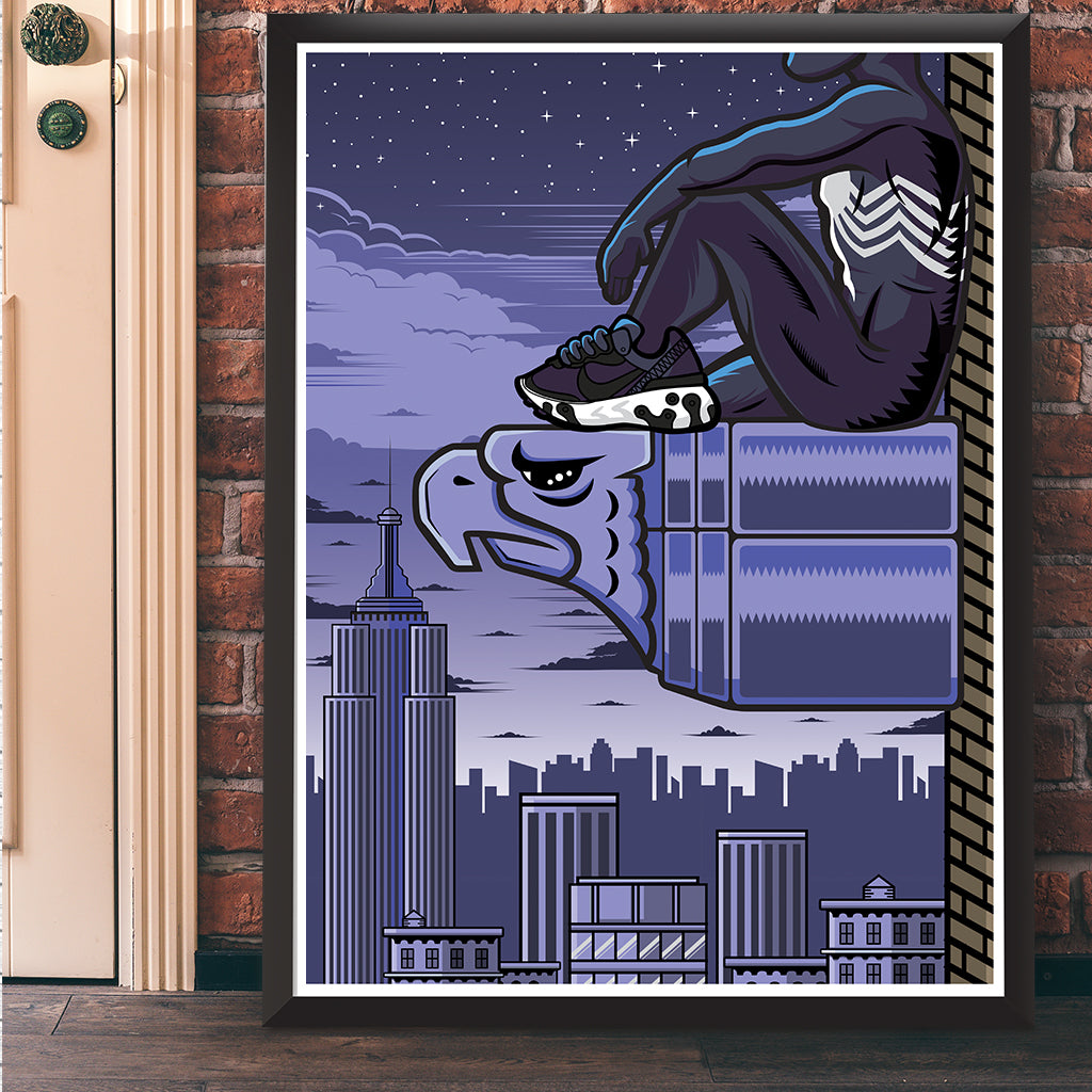 Black Suit Web Slinger Giclee Art Print 17 x  22 - Bluu Dreams