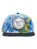Waves Pattern Hang Loose Snapback Hat
