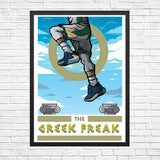 Greek Freak Giclee Art Print 13 x 19 - Anderson Bluu Sneaker Art