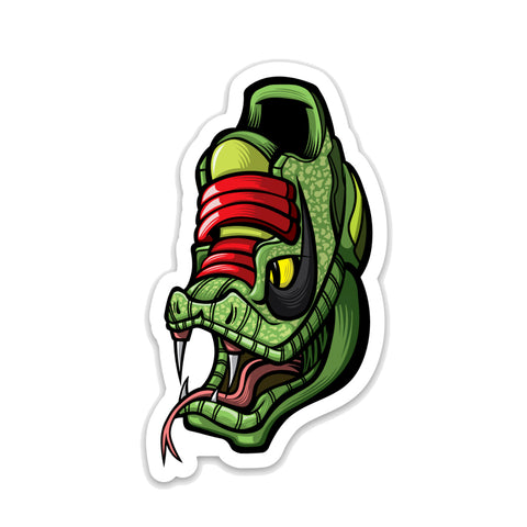 Black Mamba Grinch 3 x 3 Sticker - Anderson Bluu Sneaker Art
