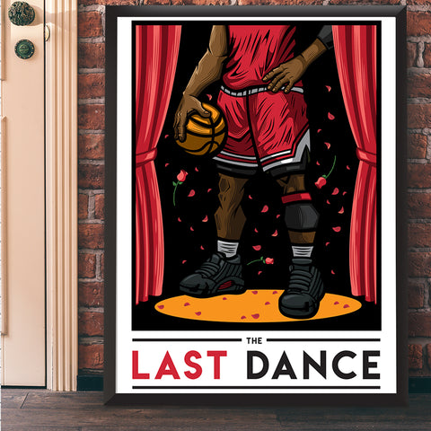 The Last Dance Giclee Art Print 17 x 22 - Anderson Bluu Sneaker Art