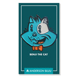Benji the Cat 1.75 x 1.75 Inch Enamel Pin - Anderson Bluu Sneaker Art