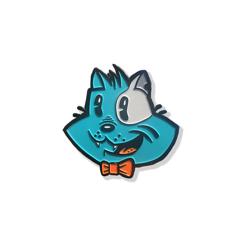 Benji the Cat 1.75 x 1.75 Inch Enamel Pin - Bluu Dreams
