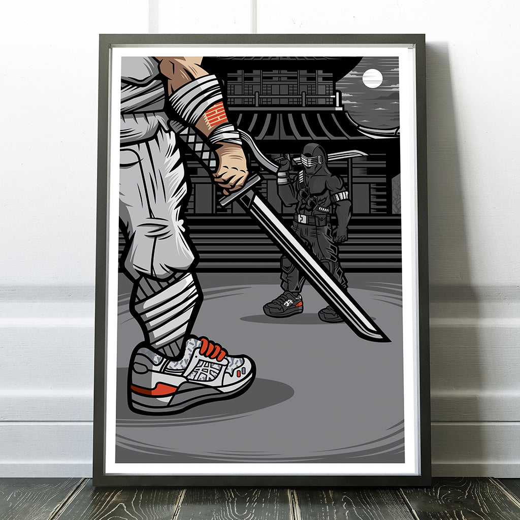 Final Showdown Giclee Art Print 13 x 19 - Anderson Bluu Sneaker Art