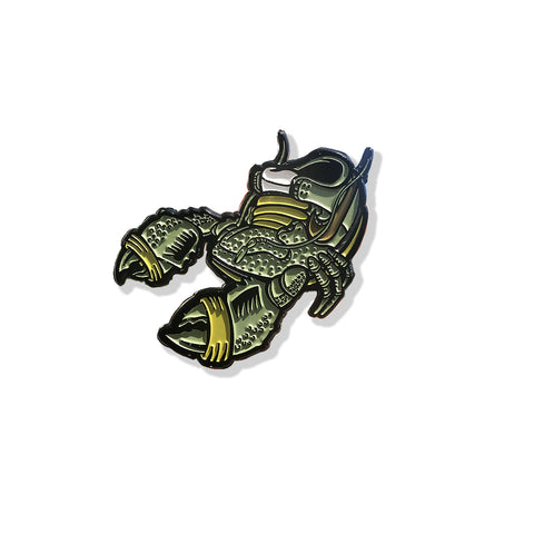 Green Lobster 1.75 x 1.75 Inch Enamel Pin