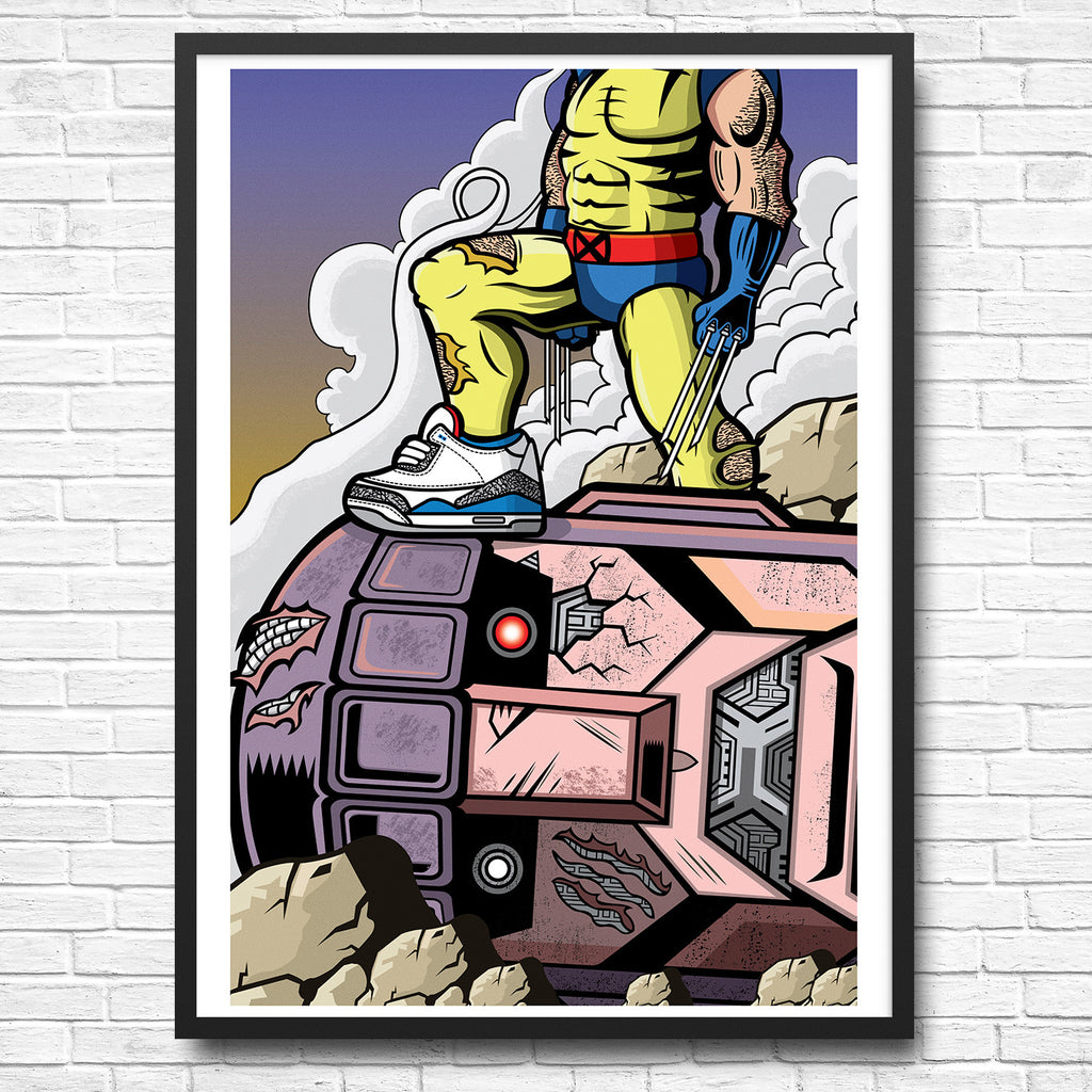 Weapon Vs Machine Giclee Art Print 13 x 19 - Anderson Bluu Sneaker Art